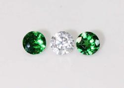 Natural Tsavorite & Diamond - Set of 3