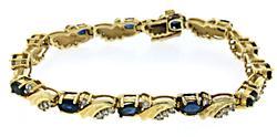 Fancy Sapphire & Diamond Bracelet