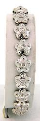 Spectacular Diamond Flower Bracelet