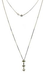Beautiful Invisible Set Diamond Pendant on Chain Necklace