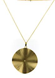Nice Gold Disk Necklace
