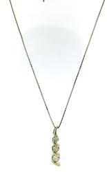 Lovely Past Present Future Diamond Necklace