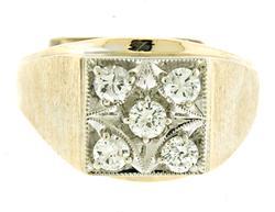 Gent's Round Brilliant Cut Diamond Ring