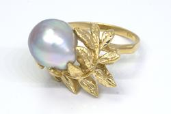 So Very Elegant, Pearl Ring, 14K, Size 6 3/4