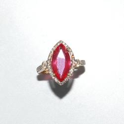 Enchanting 14KT Yellow Gold Ruby and Diamond Ring