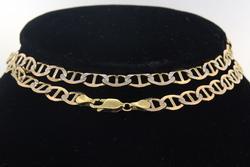 22 inch Mariner Gold Chain