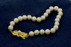 Well Made, Pearl Bracelet with 18K Clasp