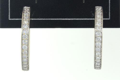 Gorgeous Diamond Hoop Earrings, 14K