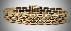 Popular 14K Panther Link Bracelet
