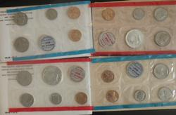 1968 and 1969 10 Each US Mint Sets With 40% Silver Halves