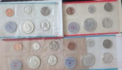 1964 2x US Mint Sets Brilliant Uncirculated Coins With OGP