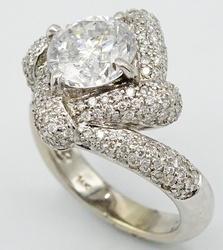 Spectacular 3.02ctw Round Brilliant Cut Diamond Ring