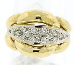 Sophisticated Pave Diamond Band in 18K