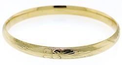 Etched Bangle Bracelet