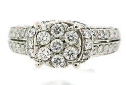 Shining Cluster Diamond Ladies Ring
