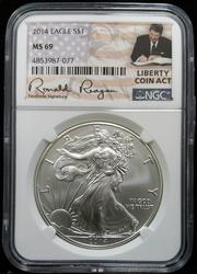 Certified 2014 Silver Eagle NGC MS69