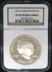 Certified 1990 P Proof Eisenhower Comem NGC PF69UC