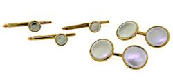 Gents MOP Cufflink & Stud Set