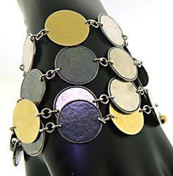 Gurhan 4 Row Coin Bracelet in SS/24K