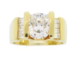 Oval Cut 2.01CTW Diamond Ring in 18K Gold