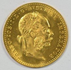 Superb Gem BU Austria 1 Ducat Gold Piece dated 1915