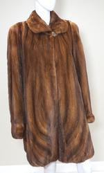 Bronze mink coat
