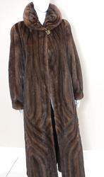 Full length brown mink coat