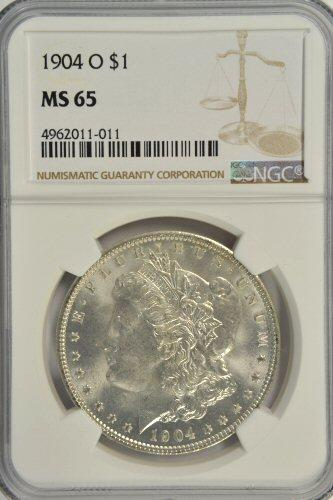 Super Gem BU 1904-O Morgan Silver Dollar. PCGS MS65