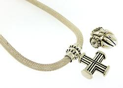 Sterling Silver Necklace w Interchangeable Pendants