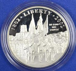 2002 West Point Commem Silver Dollar, Proof