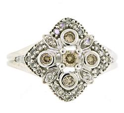 Old World Look Diamond Cluster Ring