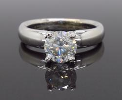14K White Gold Fancy Light Gray Diamond Ring
