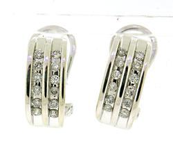 Amazing Double Row Diamond Earrings