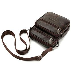 Men Genuine Leather Shoulder Bag Handbag Messenger Bag