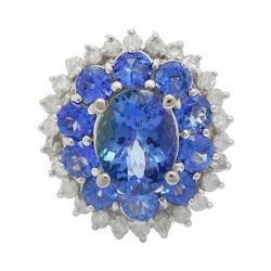 Starburst Floral Tanzanite Ring in 14K Gold