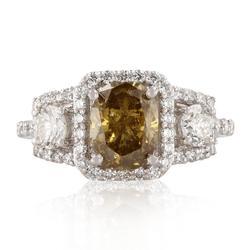 Fancy Brown Diamond Ring in Platinum