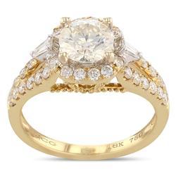Diamond Halo Ring in 18K Gold