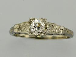 High Quality .33 CT Diamond Ring in 18KT Gold