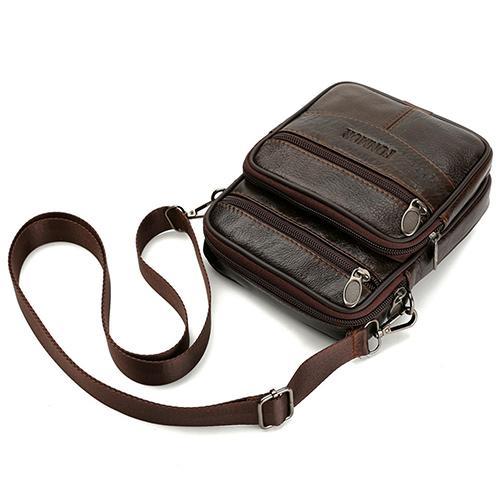 Men Genuine Leather Shoulder Bag Handbag Messenger Bag