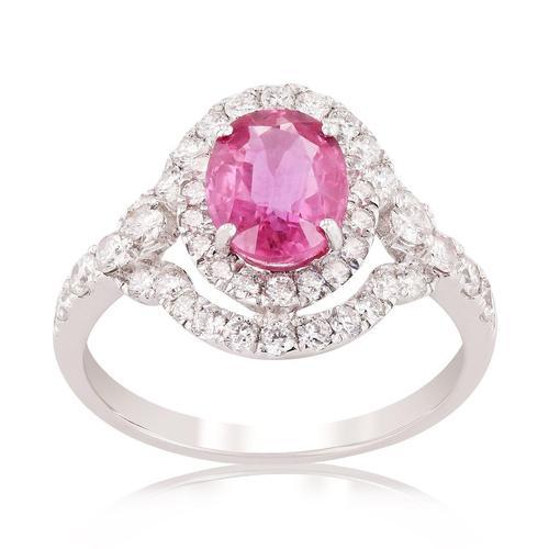 Breathtaking 1.75 ctw. Sapphire and Diamond Ring
