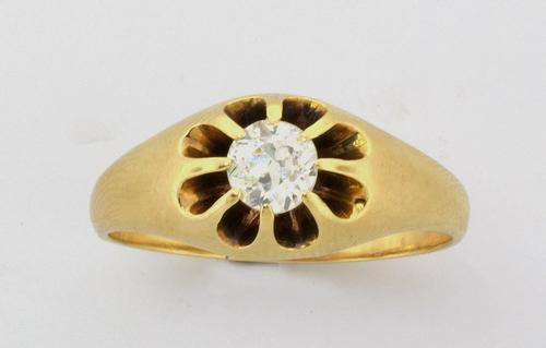 Antique Victorian .50CT Diamond Ring Circa 1890s