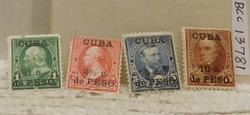 Cuba stamps:  1 cent/ 2-1/2 cent /5 cent/ 10 cent  new