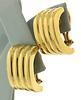 Vintage Tiffany & Co Ribbed Omega Earrings