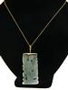 Green Jade Carved Pendant Necklace