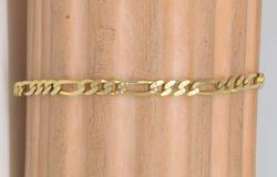 14kt Gold Figaro Bracelet, 7.5in
