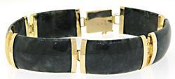 Grey Jade Station Bracelet