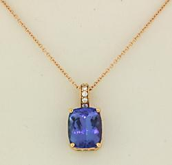 Gorgeous Tanzanite and Diamond Necklace