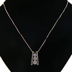 Gorgeous Diamond Cluster Necklace