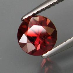 Exquisite 1.98ct diamond cut red Zircon solitaire