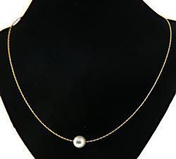 Single Pearl on Twisted Necklace